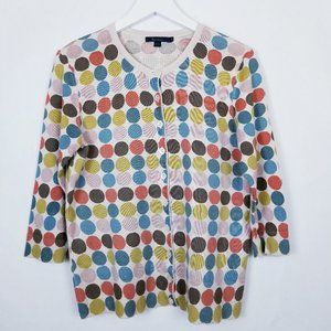 Boden Graphic Colorful Circles Cardigan - 18